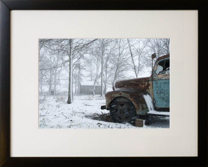 Snowy Arkansas Farm, 2009. Photographic print by Terry Smith.