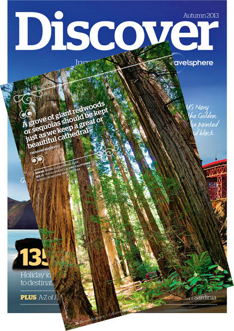Redwoods National Park image published in Discover Magazine, Autumn 2013
