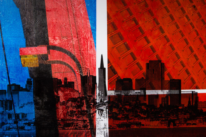 San Francisco painting titled Somebody Stopped the Sun Just So by Terry Smith, 2015