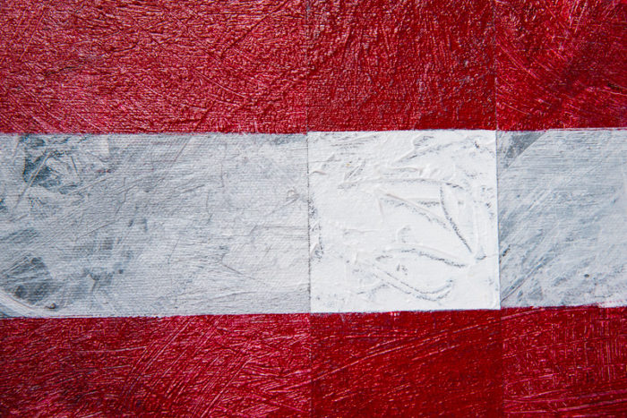 Close-up of Born in the U.S.A. painting by Terry Smith, 2015