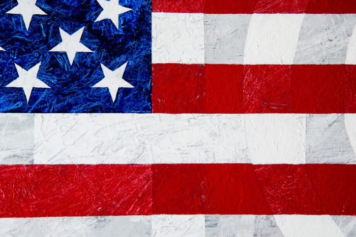 Cross close-up of Born in the U.S.A. painting by Terry Smith, 2015