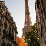 Eiffel Tower in Autumn, Paris