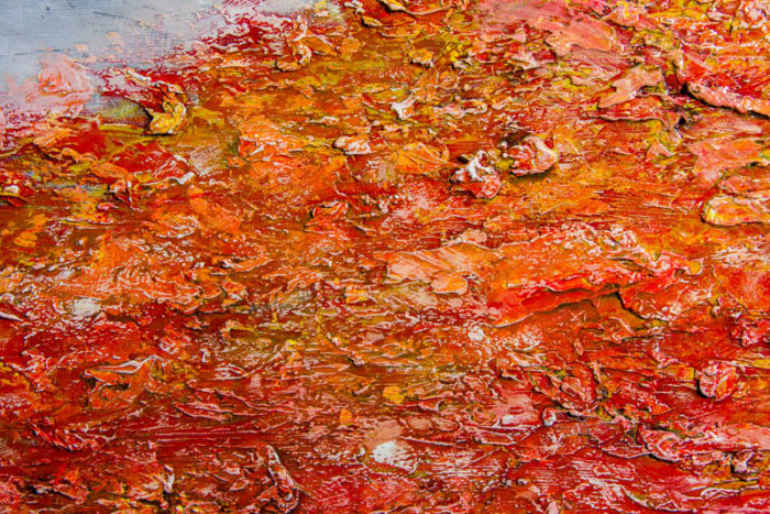 Fayetteville by Terry Smith, 2015. Close-up #7. Oil on canvas painting.