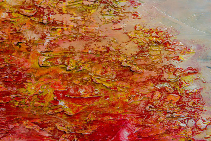 Fayetteville by Terry Smith, 2015. Close-up #9. Oil on canvas painting.