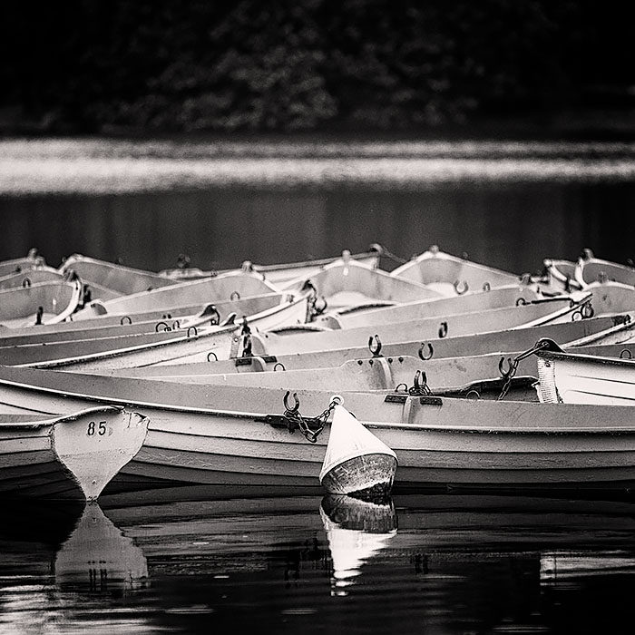 Rowboats on a park lake in Bois de Boulogne, Paris, France art print