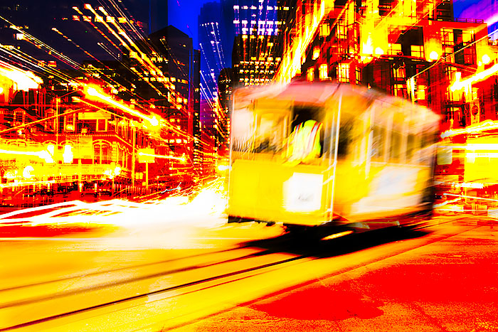 Late Night Cable Car, San Francisco print