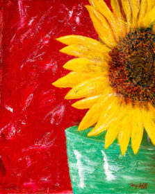 Sunflower open edition print by artist Terry Smith