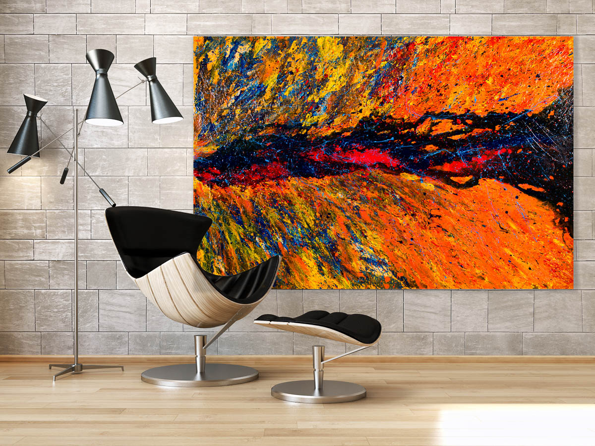 "Color Colonization is an contemporary abstract painting by artist Terry Smith. Acrylic on canvas, 2016, 40"" x 60"" x 1.5""."