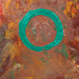 Green Circle. 2018. Oil on canvas board. 12